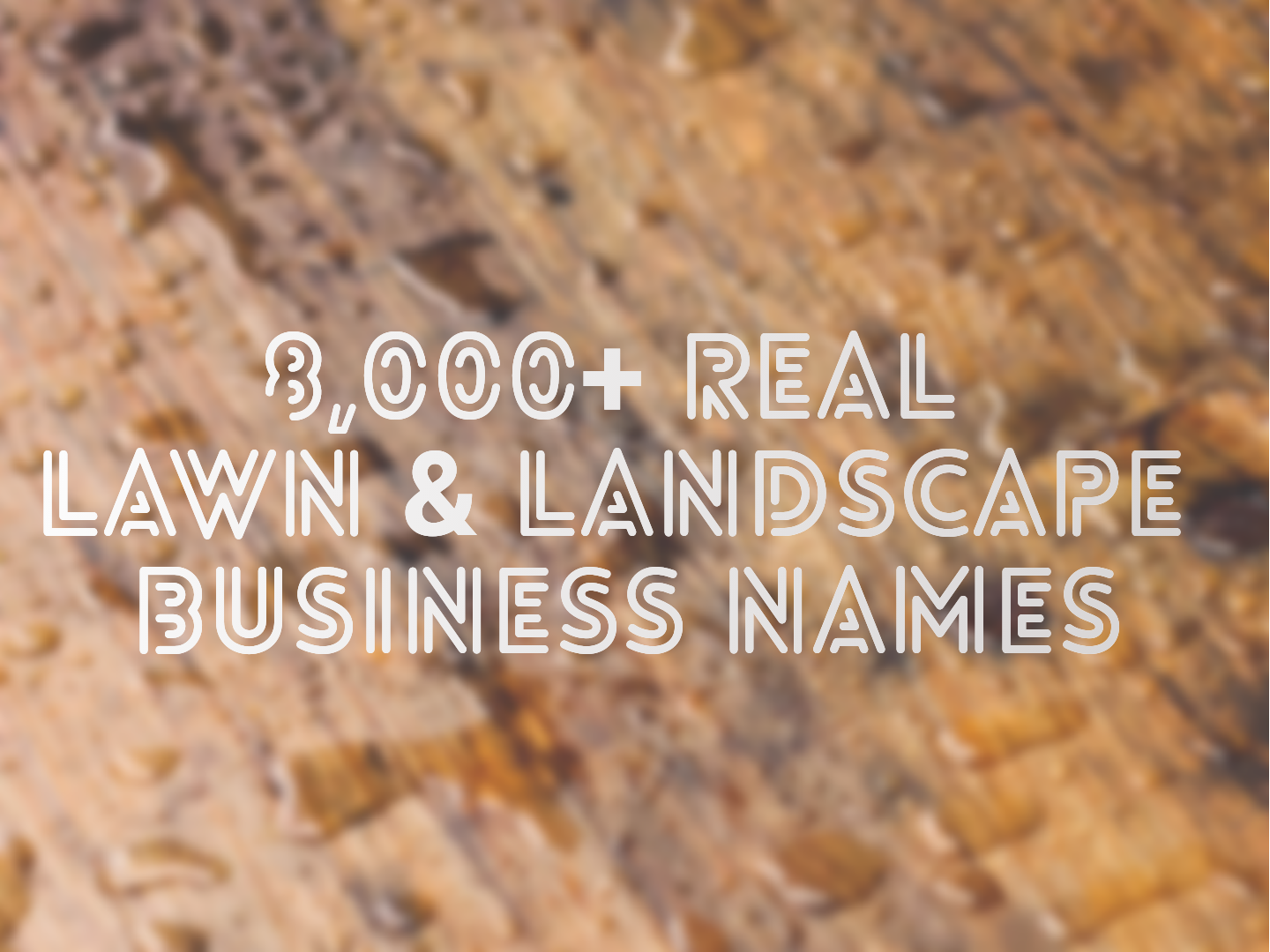 Guide To Naming Your Business And 8 000 Lawn Care Landscaping